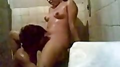 Indian college girl fucked in hostel shower room in style